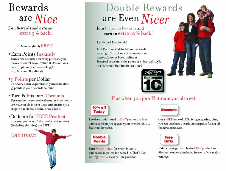 Rewards Program Brochure Melanie Donahoo S Portfolio